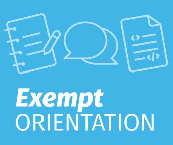 Exempt Orientation